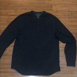 American Eagle Outfitters Thermal Henley T-SHIRT